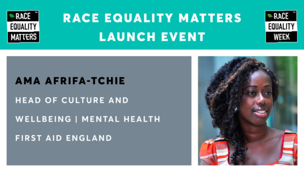 Race Equality Matters Launch Event – Ama Afrifa-Tchie