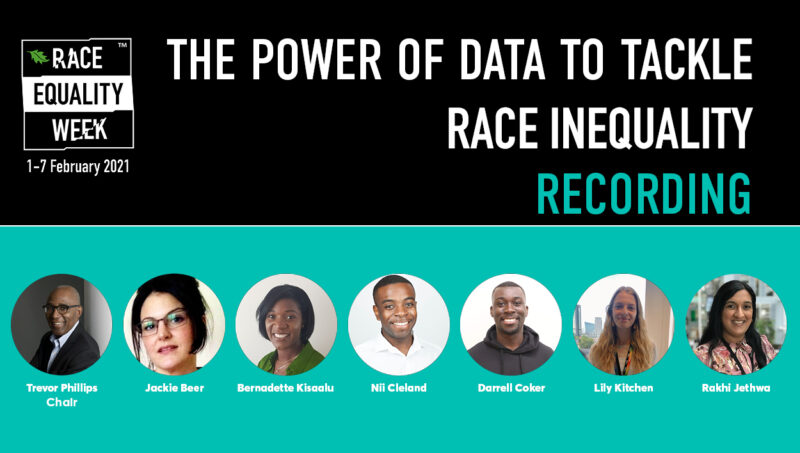 The Power of Data to Tackle Race Inequality Recording